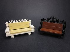Park Benches | Park benches as seen in these two vignettes. | Walter Benson | Flickr