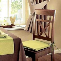 dining room chair pads with ties - Dining Room Chair Cushions