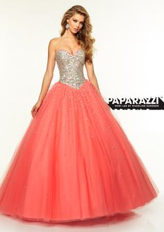 Prom Dresses – Paparazzi Prom Dress Jeweled bodice and tulle skirt ballgown