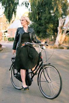 Classic Black, Leather and Bike