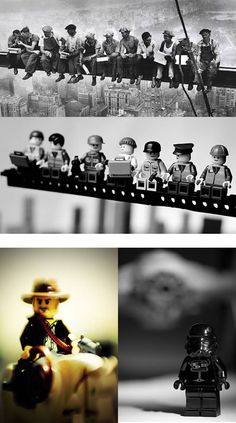 Artist Mike Stimpson has paid homage to famous photos be recreating them using LEGO building blocks. The result is simple, playful and equally as memorable. Some of the photos include V-J Day Time Square where the infamous kiss took place; the historic moment of Raising the Flag on Iwo Jima and the Moon Landing.
