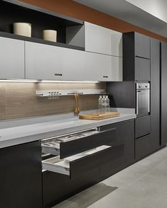 Trying to find luxury kitchen design motivation? Inspect out our top 63 favorite instances of seriously fashionable luxury kitchens and special. Kitchen Room Design, Luxury Kitchen Design, Contemporary Kitchen Design, Kitchen Cabinet Design, Luxury Kitchens, Home Decor Kitchen, Kitchen Layout, Interior Design Kitchen, Cool Kitchens