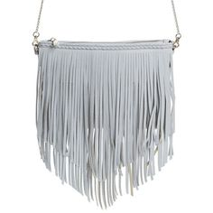 Street Level Fringe Faux Leather Crossbody Bag ($78) ❤ liked on Polyvore featuring bags, handbags, shoulder bags, grey, street level handbags, gray shoulder bag, vegan handbags, crossbody handbags and mini crossbody purse