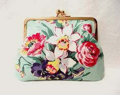 Novelty floral Clutch purse bag by SpringFlavor on Etsy, $17.00