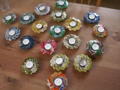 How to make candle holders out of soda cans. Instructions in danish, but lots of images to be able to follow without being able to understand the words.