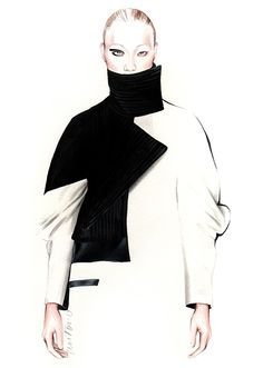 Fashion illustration for Luis Buchinho F/W 2015 // Antonio Soares