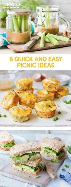 Eight quick and easy picnic food ideas Grab the sunshine with our last-minute picnic food ideas, from sausage rolls and sandwich inspiration to a super-easy falafel recipe. Kids Picnic Foods, Paleo Picnic, Beach Picnic Foods, Picnic Date Food, Best Picnic Food, Vegetarian Picnic, Healthy Picnic Foods, Picnic Snacks, Beach Meals