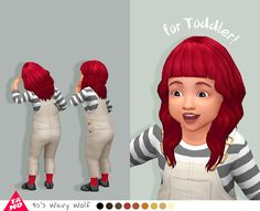 90's Wavy Wolf for Toddler!Toddler hair is available now! And I've updated all files. They're compatible with gender, vampire. Please re-download and replace files. Thank you. DOWNLOAD on my Blogger
