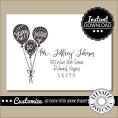 Editable birthday envelope templatebirthday envelope addressing editable birthday envelope templatebirthday envelope addressingbirthdayballoonsrecipient addressing altavistaventures Choice Image