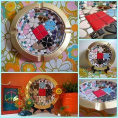 VTG 1970s MID Century Modern Mosaic Ceramic Tile Gold Metal Art Dish Ashtray Mosaic Art, Metal Art, Mid-century Modern, 1970s, Tile, Mid Century, Ceramics, Dishes, Ebay