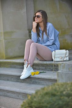 Some Bunny Got New Kicks - Easter outfit ideas, bunny sneakers, white sneakers, pastel colors, spring style, spring fashion, fashion blogger To Be Bright