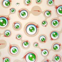Jellyfish Eyes (Cream) - Takashi Murakami - michael lisi/contemporary art, you…