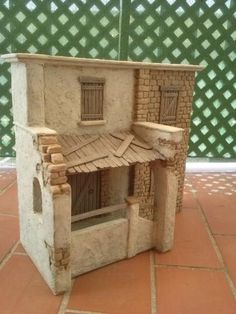 Foro de Belenismo - Anuncios comerciales - particulares -> Complementos de belén en venta Christmas Nativity Scene, World Crafts, Nativity Crafts, Miniature Houses, Fairy Houses, Little Houses, Woodworking Crafts, Dollhouse Miniatures, Diy And Crafts