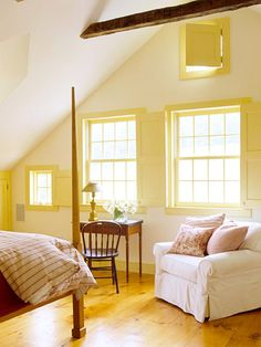 master suite in attic.  starting to love this idea...the attic