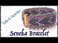 Seneka Bracelet with Rulla and Superduo - YouTube