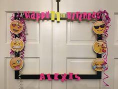 Emoji photo prop Birthday frame