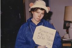 Yale '87 Halloween. Please look after this bear!
