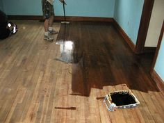 Check It Out! 11 Amazing How Much Should Refinishing Hardwood Floors Cost - Carpet Vs Hardwood Flooring. See Also Wood Profit Woodworking How to Refinish Hardwood Floors Diy. Diy Wood Floors, Refinishing Hardwood Floors, Pine Floors, Diy Flooring, Flooring Ideas, Laminate Flooring, Dark Wood Floors Living Room, Painted Hardwood Floors, Maple Flooring