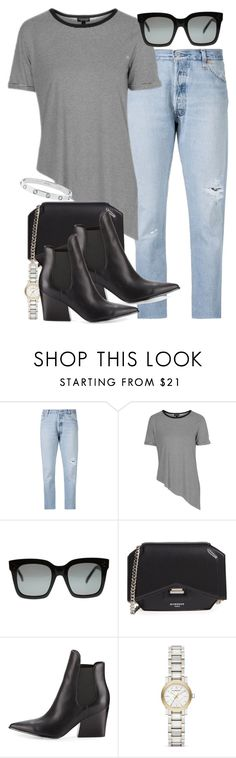 """""""Sin título #4021"""" by hellomissapple on Polyvore featuring moda, RE/DONE, Topshop, Givenchy, Kendall + Kylie, Burberry y Cartier"""