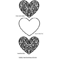 Heart Scroll Stamp & Die Set