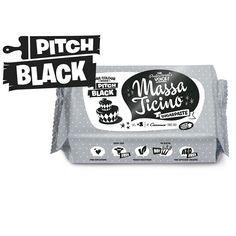 Rollfondant Massa Ticino Sugarpaste Pitch Black, 250g