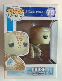 Funko POP Vinyl Figure Disney Pixar Finding Nemo Crush Sea Turtle #75 NIB Disney Pixar, Disney Pop, Funko Pop Dolls, Funko Toys, Pop Bobble Heads, Pop Figurine, Funk Pop, Funko Figures, Pop Toys