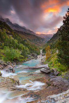 Gradas de Soaso, Valle de Ordesa, Parque Nacional de Ordesa y Monte Perdido, Pyrenees, Huesca province, Aragon_ Spain Fun Shots, Spain And Portugal, Spain Travel, Landscape Photos, Natural Wonders, Nature Photos, Waterfalls, Travel Around, Pond