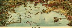 #map of #Boston Harbor (1905)
