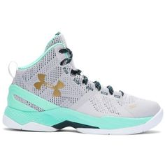 Under Armour Grade School UA Curry Two Basketball Shoes ($100) ❤ liked on Polyvore featuring men's fashion, men's shoes, aluminum, mens leopard print shoes, mens lightweight running shoes, under armour mens shoes and mens perforated shoes