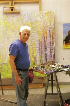Wolf Kahn (Master of colour and light) Earlier this week at a meeting, a client showed me a beautiful new painting they had recently acquired. It was an abstract landscape w. Happy Birthday Wolf, Artist Art, Artist At Work, Abstract Landscape, Landscape Paintings, Famous Artists, Art Studios, Oeuvre D'art, Painting Inspiration