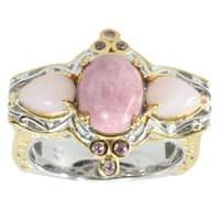 65263d86130e0e Michael Valitutti Colorado Rhodinite, Pink Opal And Pink Sapphire Ring Opal  And Sapphire Ring,