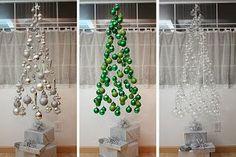 Navidad-Navidad: Arbol de Navidad invisible o flotante, muy facil