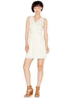 Maison Jules Printed A-Line Dress #fashion #white #style #dress