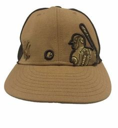 New York Yankees Hat Wool Brown Stitched Player Baseball MLB Fitted 7-1 8 a5fe63d5693d