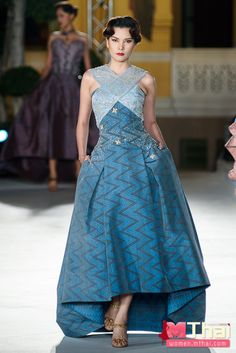 "HRH Princess Sirivannavari's design of Thai Silk in ""SIRIVANNAVARI Couture"""