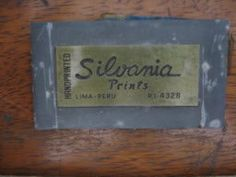 「Silvania Print PERU」の画像検索結果