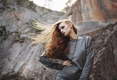 The she-wolf. And a red marble quarry in Winzendorf/ Austria served as the perfect backdrop for the shooting of the BETA collection of Vienna label YLVA. A place of strength and beauty. She Wolf, Models, Red Hair, Editorial Fashion, Pop Culture, Celebrity Style, Fall Winter, Make Up, Pullover