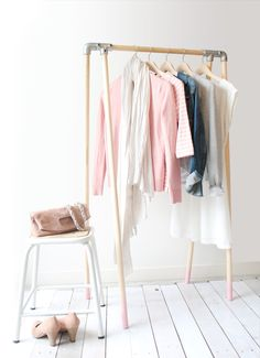 DIY: Wood Clothing Rack