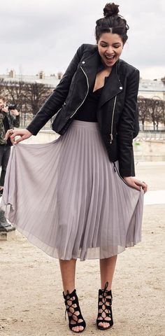 summer outfits  Style Inspiration. Feminine AND Edgy. Don't Know That These Cuts Would Work For Me, But Like The Look.