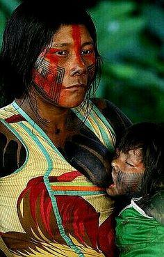Indiańska(3D) matka z córką.