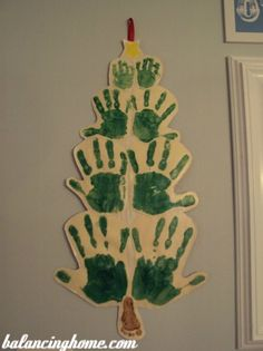 Love this handprint tree for Christmas!