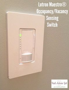 Lutron Maestro® Occupancy/Vacancy Sensing Switch Review #LutronSensor #ad