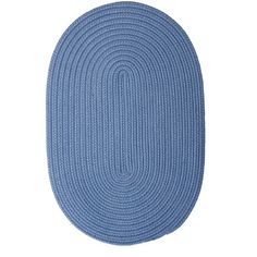 Andover Mills Rainsburg Blue Ice Outdoor Area Rug Rug Size: Oval 2' x 4'
