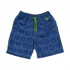 Shorts, swim pants, blue with apples, Smafolk