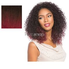 Instant Weave Evans - Color T1B/BG - Synthetic (Curling Iron Safe) Half Wig
