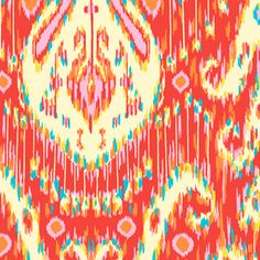 Amy Butler - Lark - Kasbah in Persimmon - could I make a bench cushion from this fabric... or too bold?