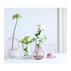 $9.99 FORMLIG Vase, light pink, white