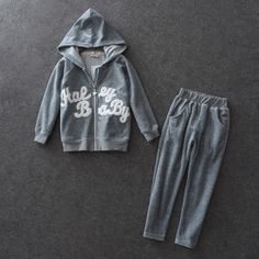 49.00$  Buy here - http://aliyo7.worldwells.pw/go.php?t=32787783025 - High Quality Children Clothes Sets Spring Autumn 300g Soft Velvet Kids 3-13y Hooded Zipper Coat+Long Pants Toddlers Sports Suits