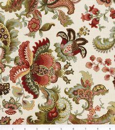 Legacy Studio Cotton Fabric-Hampton Court Jacobean Floral Tan.    # 2292027