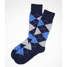 Express Mens Argyle Dress Socks Officer Blue, No Size